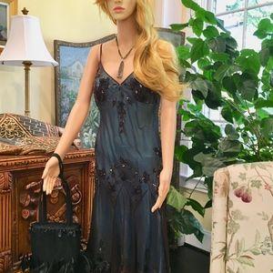Stunning Beaded Silk Dress - Papell Boutique